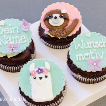 Lama Faultier Fondant Dekoration Mademoiselle Cupcake
