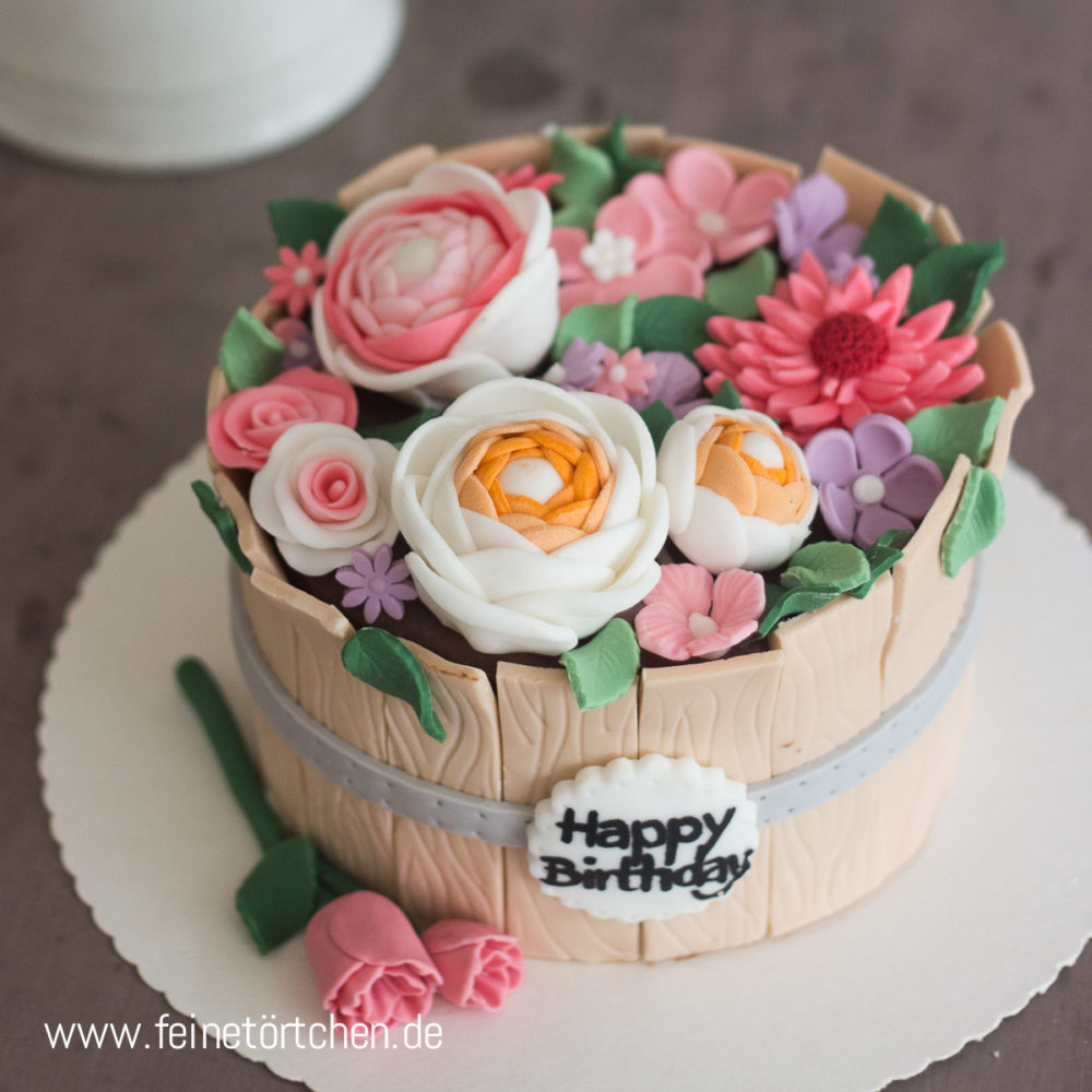 Blumentopf Rustikal Holzoptik Torte Mademoiselle Cupcake