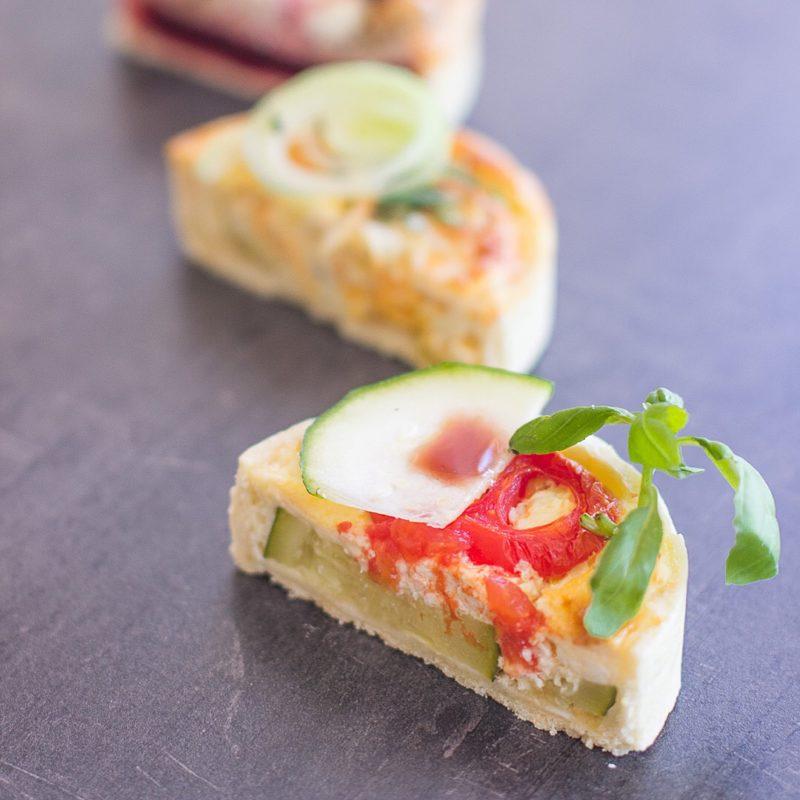 Zucchini Tomate Quiche Mademoiselle Cupcake Magdeburg Café