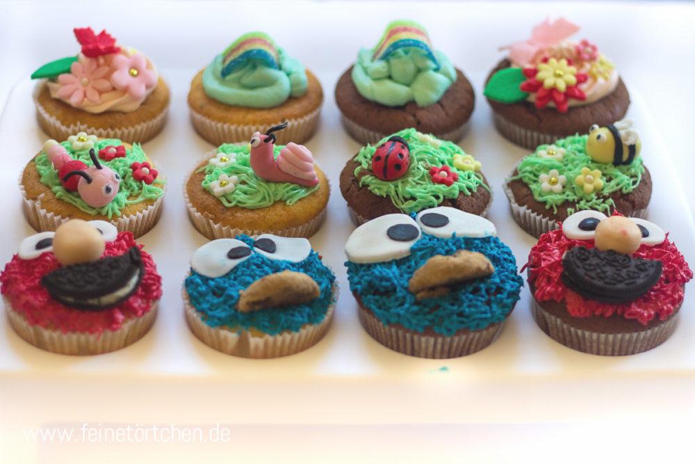 Sesamstrasse Elmo Fondant Dekoration Mademoiselle Cupcake