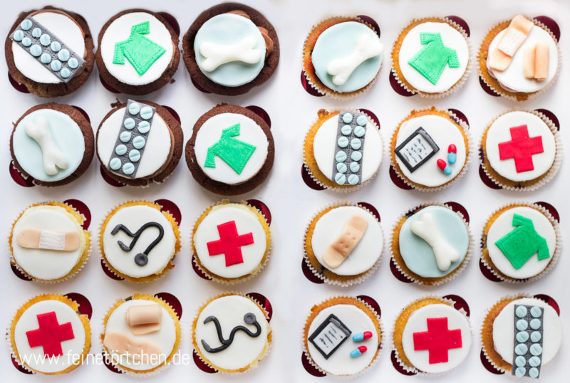 Cupcake Dekoration Krankenhaus Arzt Mademoiselle Cupcake
