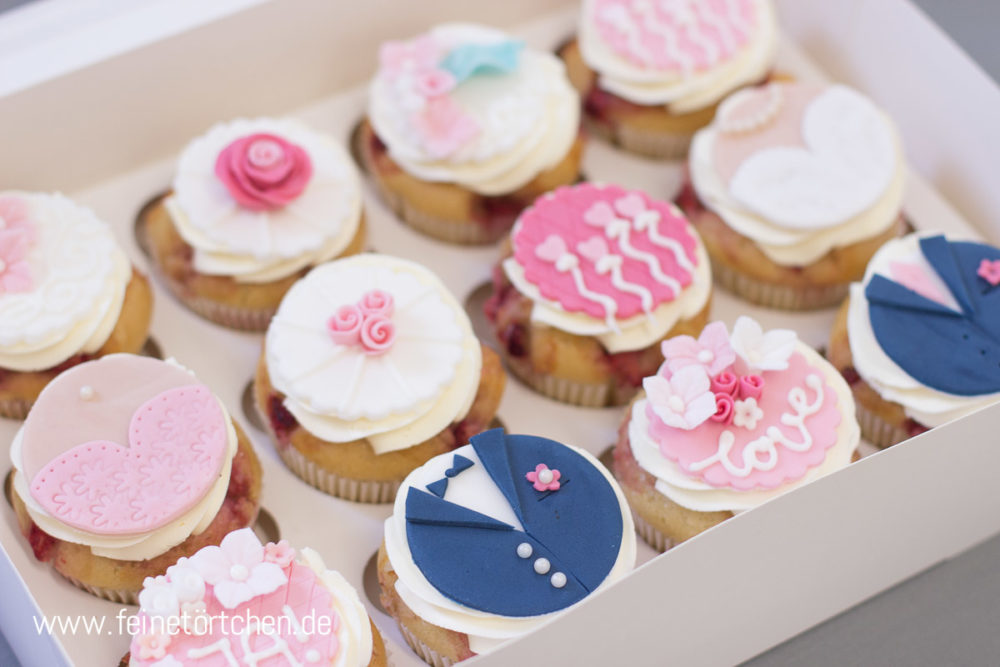 Hochzeit Fondant Dekoration Mademoiselle Cupcake