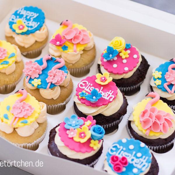 Cupcake Dekoration Flamingo Tropical Mademoiselle Cupcake