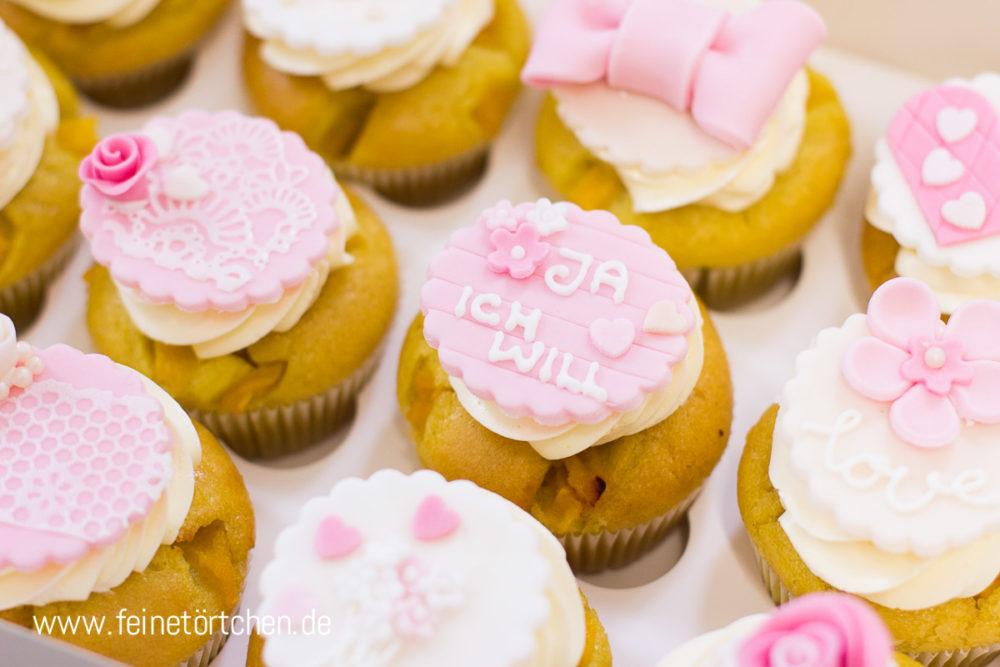Hochzeit Braut Bräutigam Heiraten Fondant Dekoration Mademoiselle Cupcake