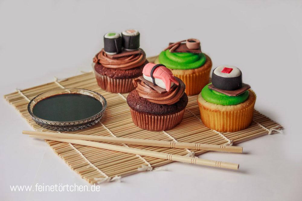 Suhsi Nigiri Maki Fondant Dekoration Mademoiselle Cupcake