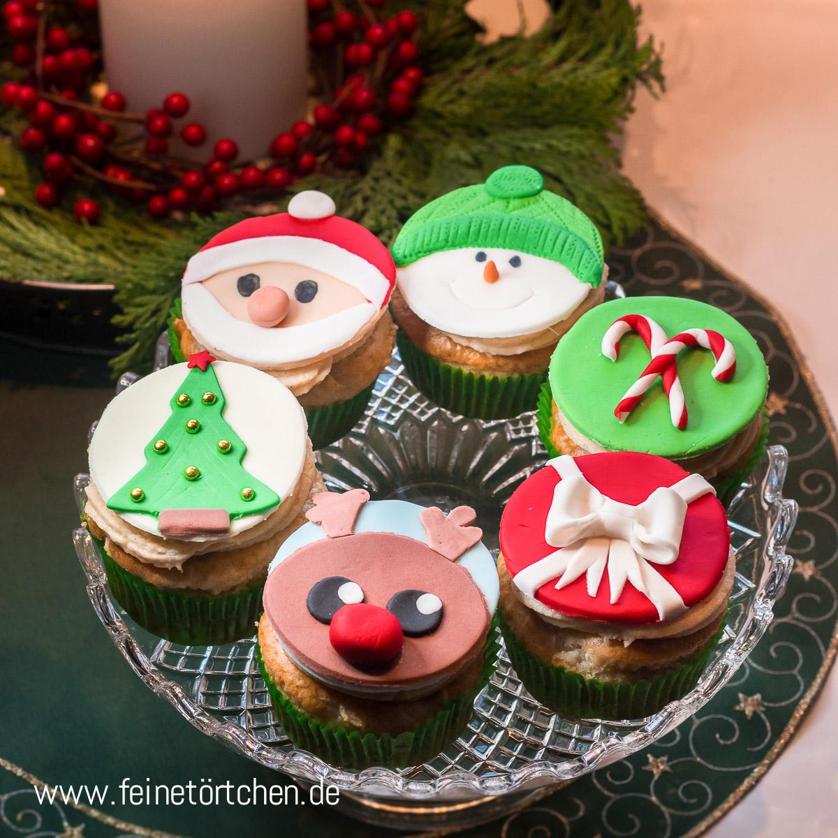 Cupcake Dekoration Weihnachten Mademoiselle Cupcake