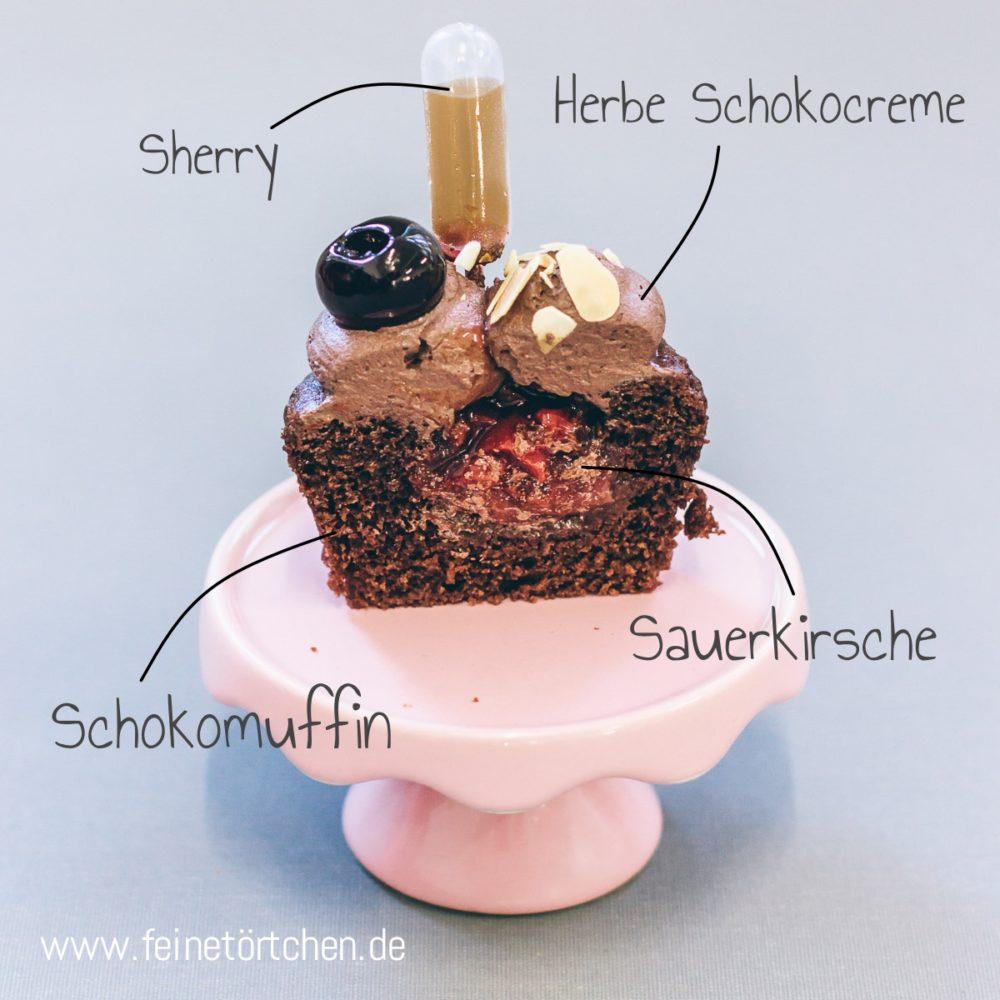 Mademoiselle Cupcake Magdeburg Muffin Grace Cherry Kirsche Schoko Sherry Amarena vegan