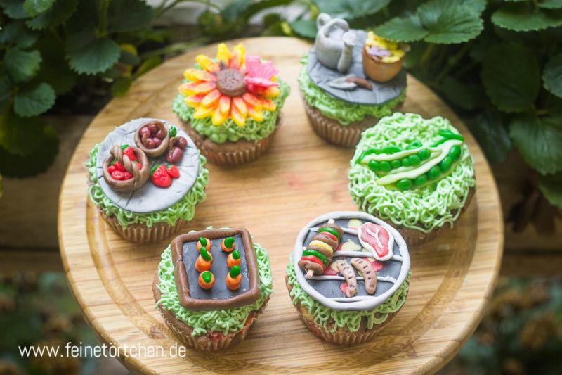 Cupcake Dekoration Garten Mademoiselle Cupcake
