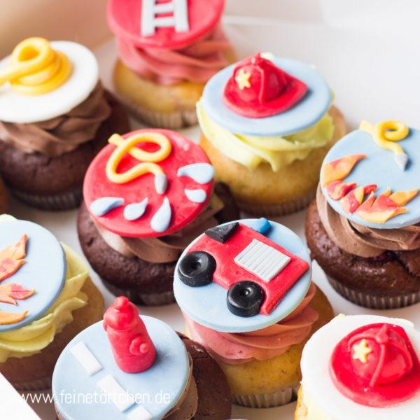 Cupcake Dekoration Feuerwehr Mademoiselle Cupcake