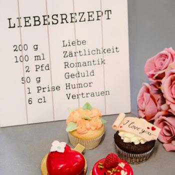 Valentinstag Cupcake Törtchen Tartelette Mademoiselle Cupcake