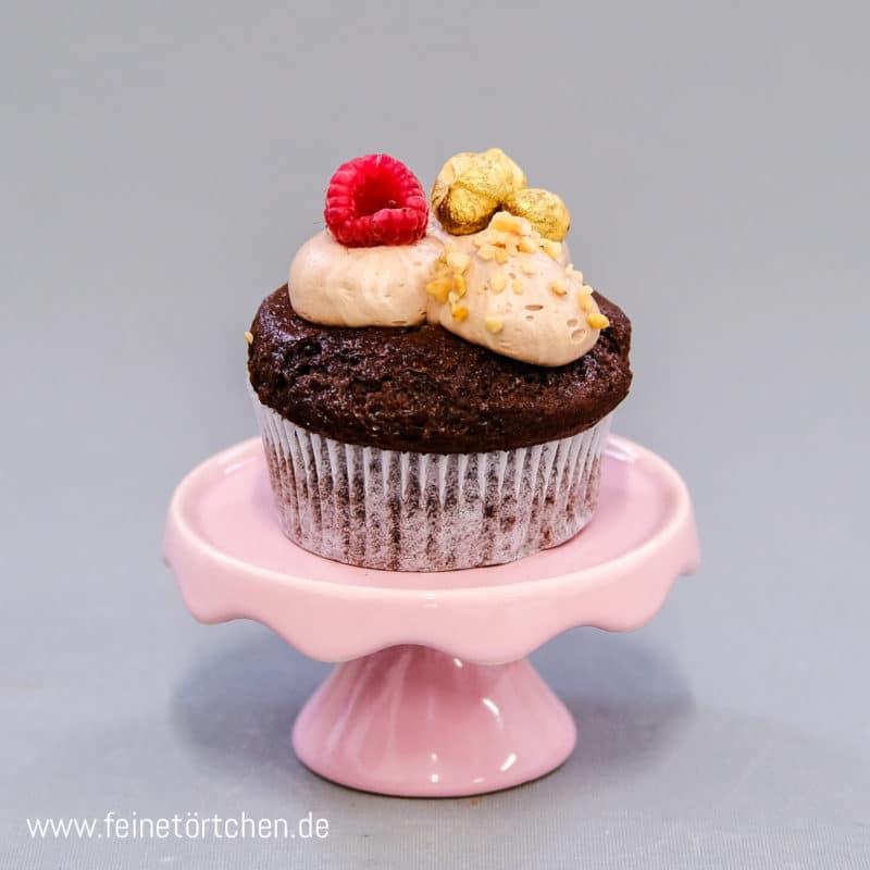 Schoko Brombeer Nougat Cupcake