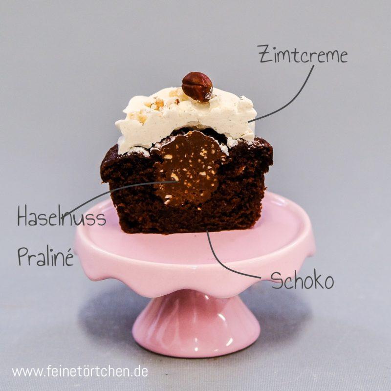Schoko Haselnuss Praline Cupcake Zimt